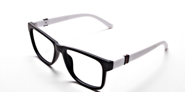 Black & White Frame Eyeglasses -2