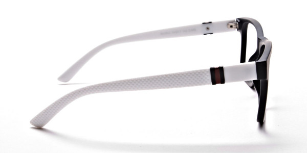 Black & White Frame Eyeglasses -3