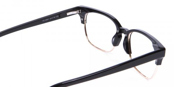 Black & Gold Browline Frames - 4