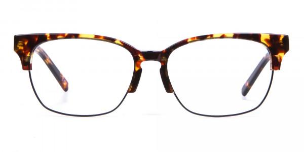 Havana & Tortoiseshell Half-Rim Glasses