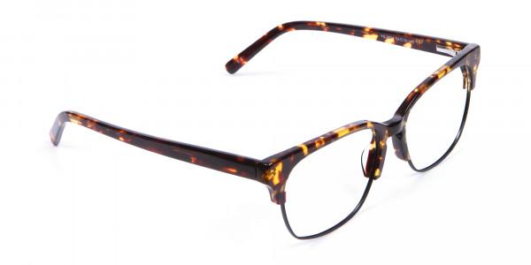 Havana & Tortoiseshell Half-Rim Glasses - 1