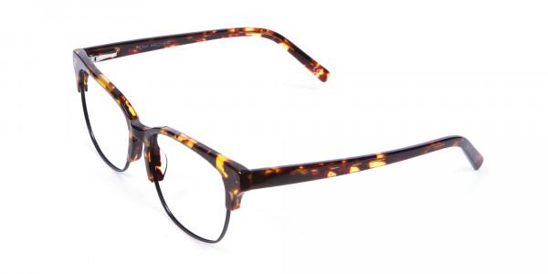 Havana & Tortoiseshell Half-Rim Glasses - 2