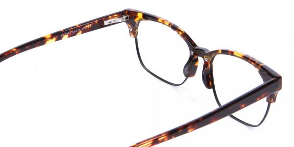 Havana & Tortoiseshell Half-Rim Glasses - 4