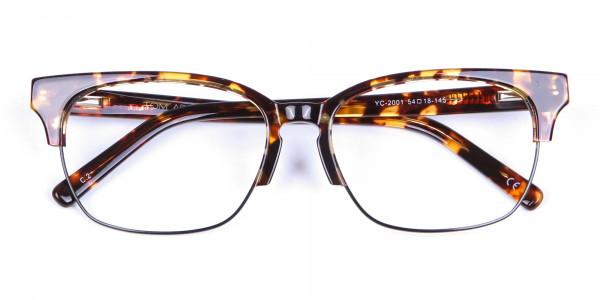 Havana & Tortoiseshell Half-Rim Glasses - 5