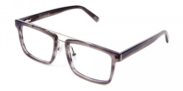 Smudge Lined Grey Glasses - 2