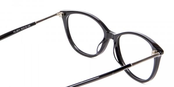 Cool Black Cat Eye Glasses -5