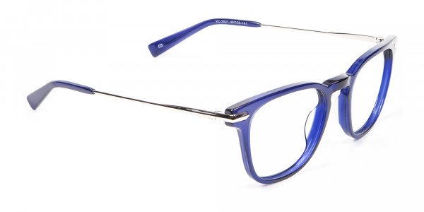 Luxurious Look Navy Blue Glasses - 1
