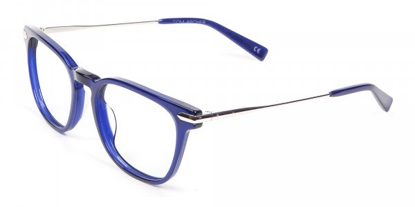 Luxurious Look Navy Blue Glasses - 2