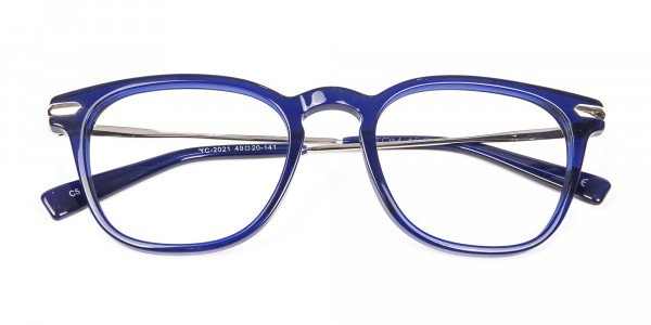 Luxurious Look Navy Blue Glasses - 5