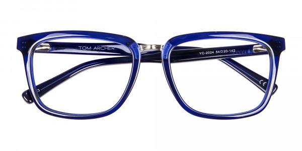 Navy Blue Rectangular Glasses -6
