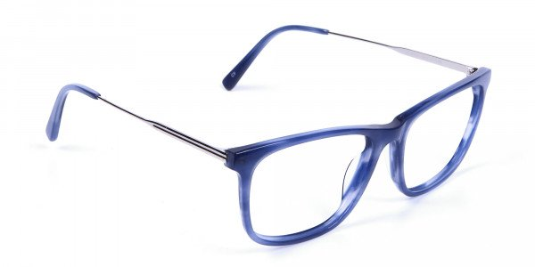 Blue Glasses in Marble Shade - 1