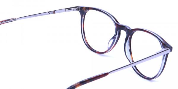 Dark Havana & Tortoise Circle Glasses -4