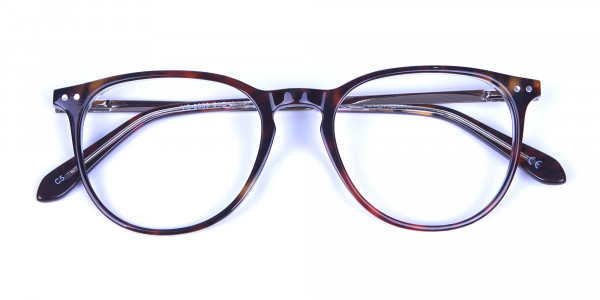 Dark Havana & Tortoise Circle Glasses -5