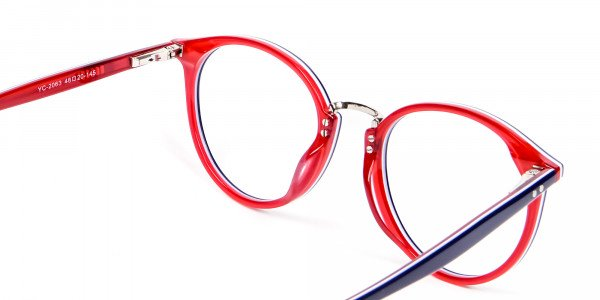 Navy Blue & Red Glasses - 4