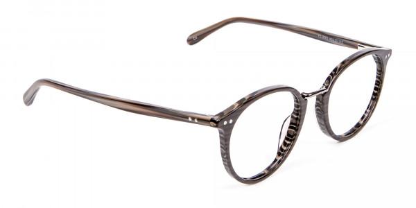 Grey Walnut Round Glasses Unisex - 1