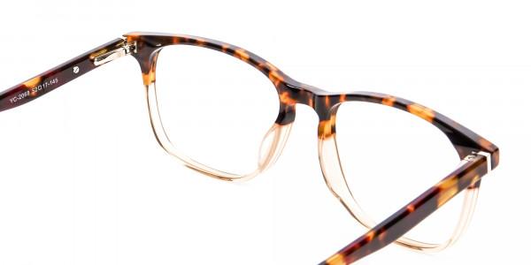 Tortoiseshell Dual-Toned Designer Glasses - 5