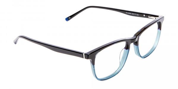 Colour Mixed Nerd Look Rectangular Glasses - 2