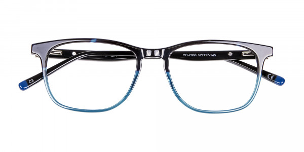 Colour Mixed Nerd Look Rectangular Glasses - 6