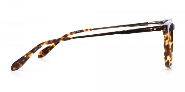 Tortoiseshell Glasses with Metal Arms - 3