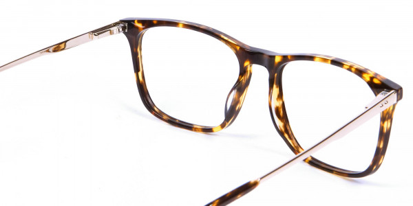 Tortoiseshell Glasses with Metal Arms - 4