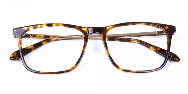 Tortoiseshell Glasses with Metal Arms - 5