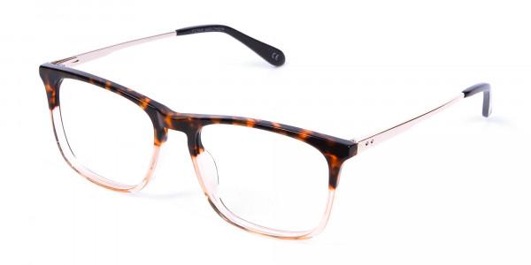 Tortoiseshell Rectangular Dual-Toned Glasses - 2