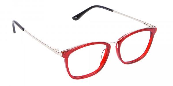 Material Mix Red Wayfarer Frame, Online UK-2