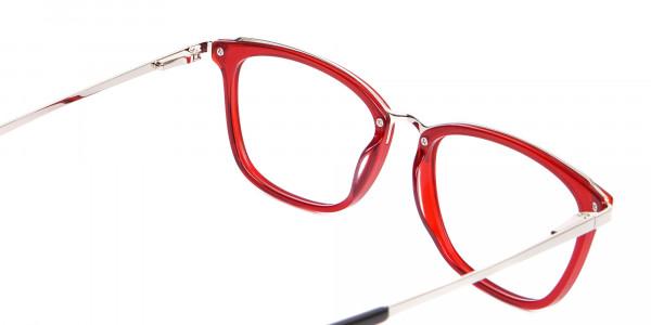 Material Mix Red Wayfarer Frame, Online UK-5