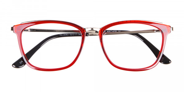 Material Mix Red Wayfarer Frame, Online UK-6