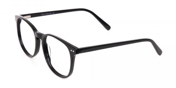 Black Acetate Wayfarer Eyeglasses Unisex-3