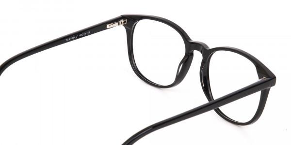Black Acetate Wayfarer Eyeglasses Unisex-5