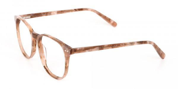 Brown Dark Beige & Stripes Wayfarer glasses-3