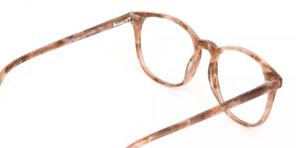 Brown Dark Beige & Stripes Wayfarer glasses-5