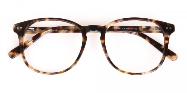 Tortoise Acetate Wayfarer Eyeglasses Unisex-6