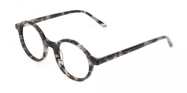 Marble Grey Acetate Round Eyeglasses Unisex-3