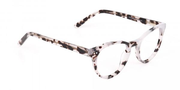 Marble Grey Round Acetate Eyeglasses Unisex-2
