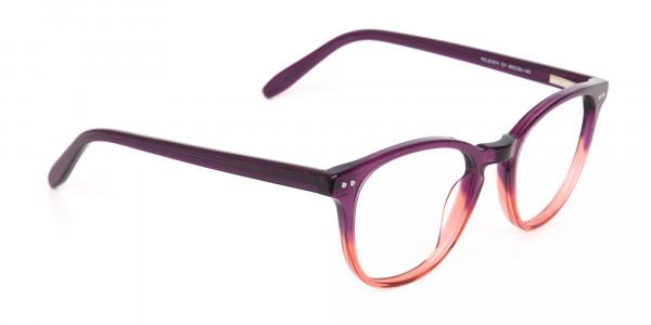Purple & Tangerine Orange Two-Tone Glasses-2