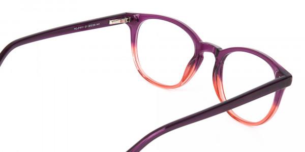 Purple & Tangerine Orange Two-Tone Glasses-5