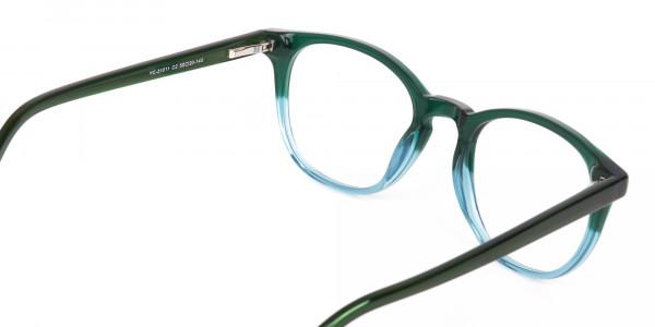 Hunter Green & Teal Two-Tone Glasses-5