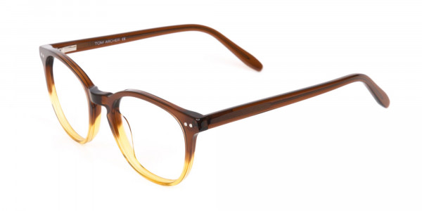 Crystal Brown & Honey Havana Two-Tone Glasses-3