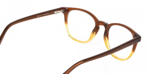 Crystal Brown & Honey Havana Two-Tone Glasses-5