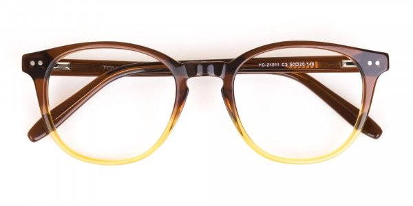 Crystal Brown & Honey Havana Two-Tone Glasses-6