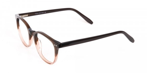Mocha Brown & Crystal Beige Two-Tone Glasses-3