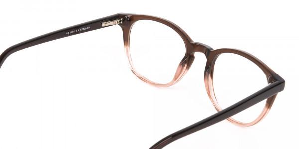 Mocha Brown & Crystal Beige Two-Tone Glasses-5