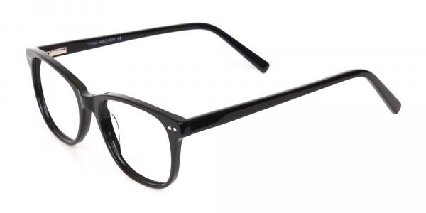 Black Rectangle Eye Frame Unisex-3