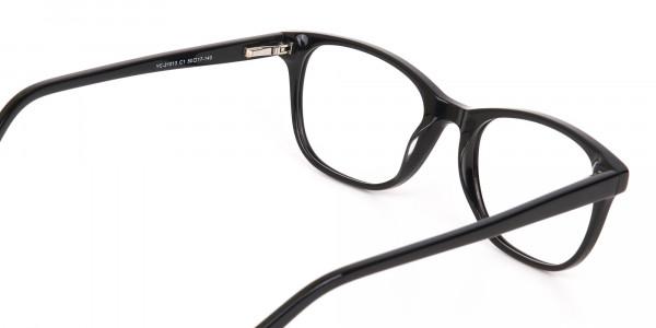 Black Acetate Rectangular Eyeglasses Unisex-5