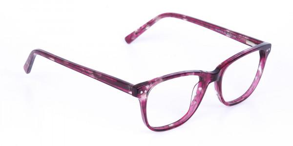 Rose Pink Marble Acetate Rectangular Glasses-2