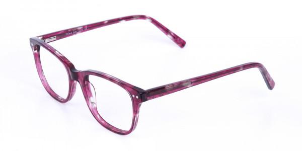 Rose Pink Marble Acetate Rectangular Glasses-3