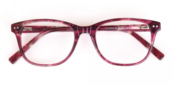 Rose Pink Marble Acetate Rectangular Glasses-6