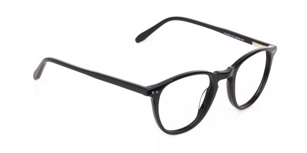 Black Acetate Wayfarer Glasses Unisex-2